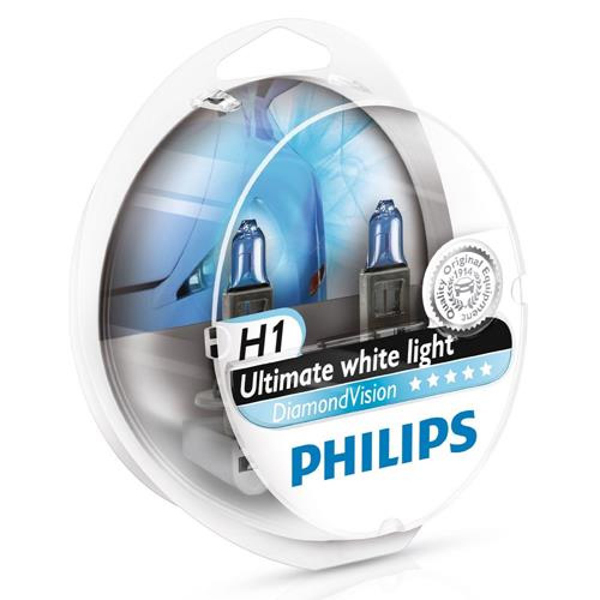 Philips H1 Diamond Vision 12v 55w 5000k- Far Ampul Seti Far Ampulleri philips