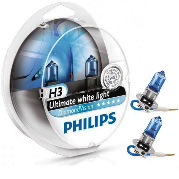 Philips H3 Diamond Vision 12v 55w 5000K- Far Ampul Seti Far Ampulleri philips