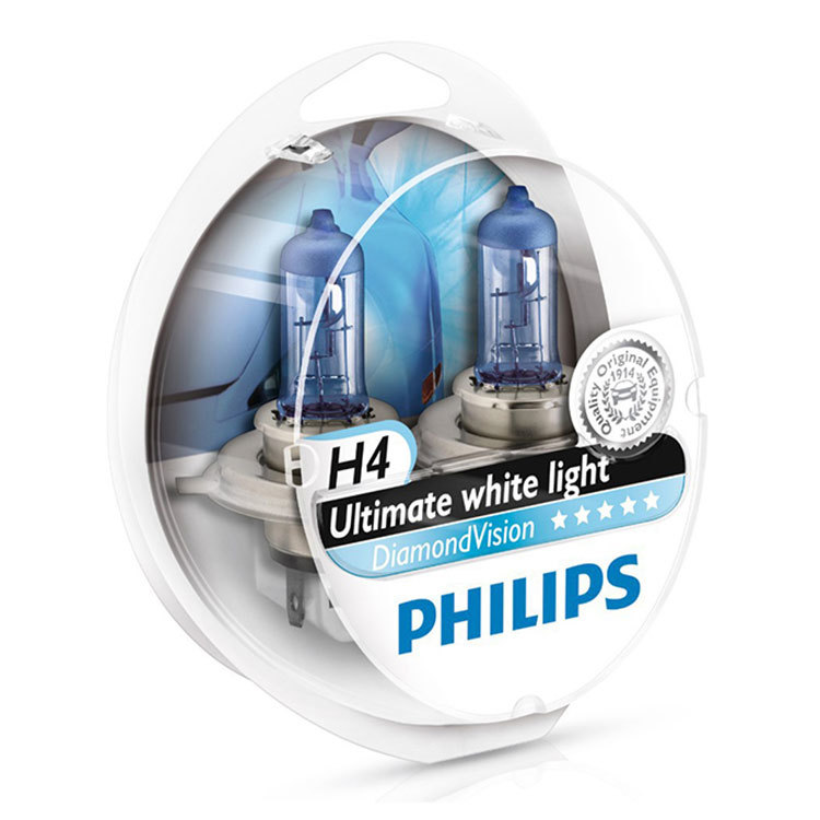 Philips H4 Diamond Vision 12v 60/55w 5000K- Far Ampul Seti Far Ampulleri philips